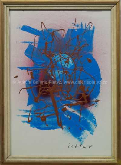 Josef  Istler - Abstrakce v modré