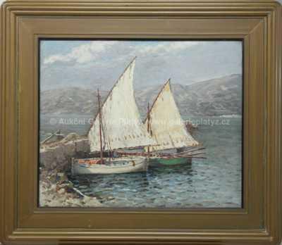 Josef Písecký (Liška) - U malého mola v Bašce