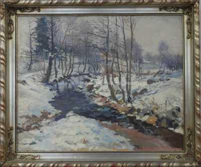 Gustav  Porš - Zimní potok