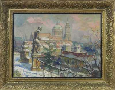 Jaro Procházka - Pohled na kostel sv. Mikuláše