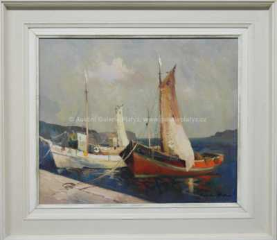 Karel Hodr - Lodě ve Splitu
