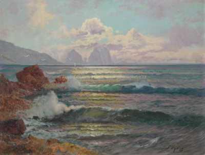 Franz Waldegg - Červánky nad mořem