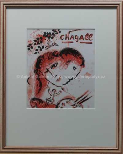 Mark Chagall - Milenci v červeném