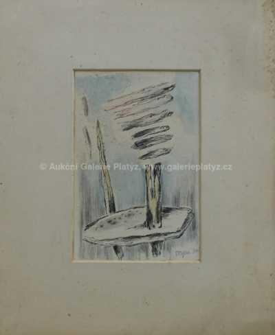 Marie Čermínová - Toyen - Abstraktní motiv