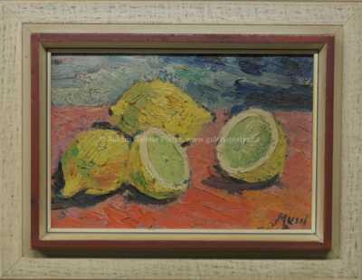 Leopold Musil - Zátiší s citrony