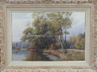 Josef Procházka - Na břehu rybníka