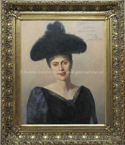 Václav Brožík - Portrét paní Javůrkové