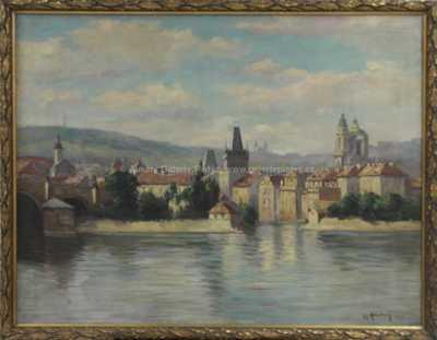 Gustav Reiter - Pohled na Malou Stranu