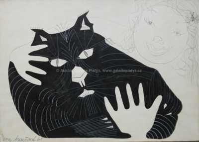 Eva Burešová - Dívka s kočkou