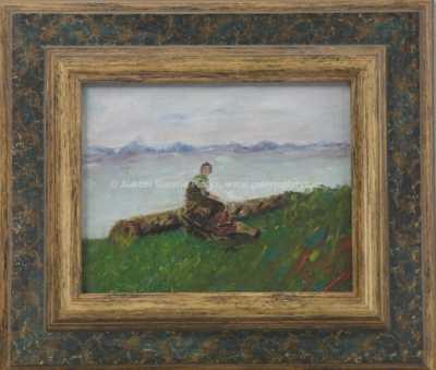 Jožka (Josefa)  Kačírková-Ryšavá - Odpočinek na lovu