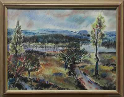 Bohuslav Reynek - Pohled do krajiny