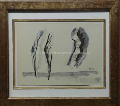 Marie Čermínová - Toyen - Stromy v krajině