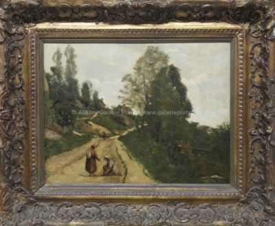 Jean-Baptiste Camille Corot - Setkání na cestě