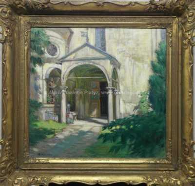 Alois Kalvoda - Františkánský kostel v Jindřichově Hradci