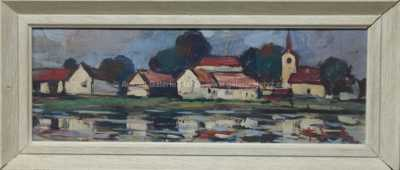 František Emler - Vesnice u rybníka