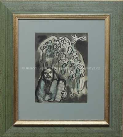 Mark Chagall - Mojžíš a jeho lidé