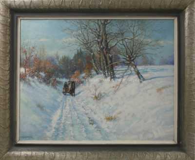 Rudolf Linhart - Zimní projížďka na Chrudimsku