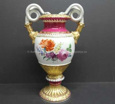 Porcelán - Váza s hady