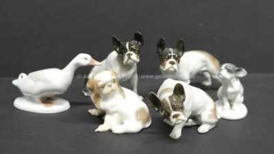 Porcelán - Konvolut šesti zvířátek