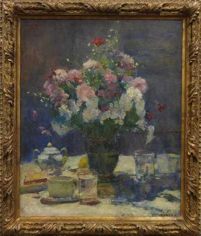 Lajos  Kunffy - Zátiší s květinou