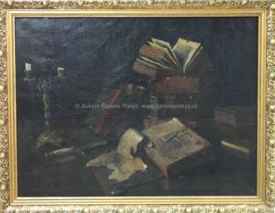 Autor neurčen - Zátiší s knihami