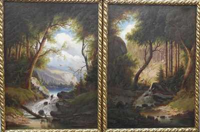Nesignováno - Párové obrazy 19. století
