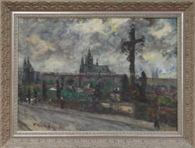 Václav  Kozák - Pohled na Pražský hrad