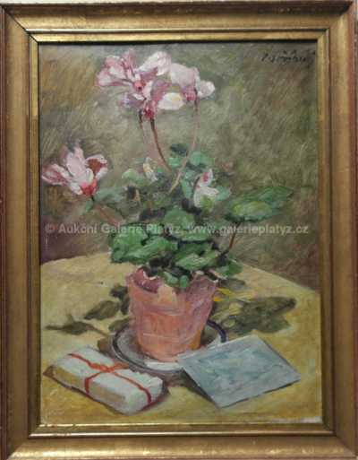 Vladimír Stříbrný - Květinové zátiší