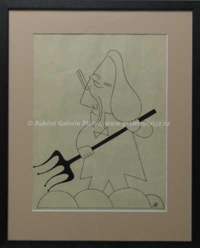 František Bidlo - Karikatura s vidlemi