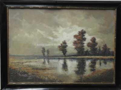 Karel Laube - Bouřka nad rybníkem