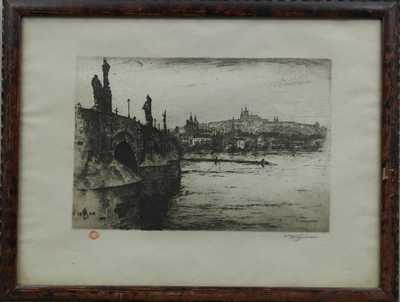 František Tavík Šimon - Vory pod Karlovým mostem
