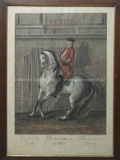 Johan Elias Ridinger - Jezdecká škola