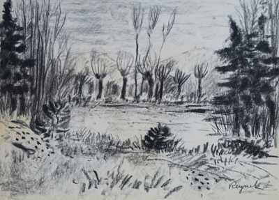 Bohuslav Reynek - Vrby u rybníka