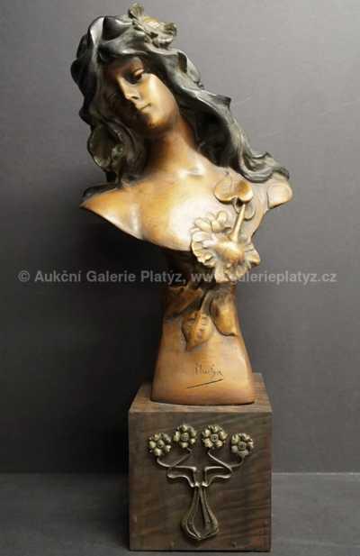 Alfons Mucha - Busta dívky