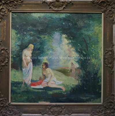 Josef  Svoboda - Při koupeli
