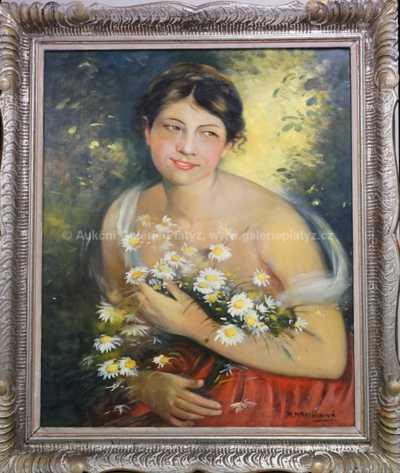 Marie Martínková - Dívka s kopretinami