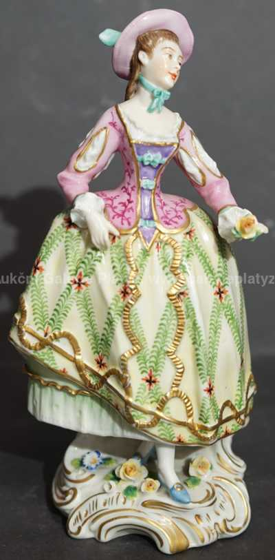 Porcelán - Dívka s květinou