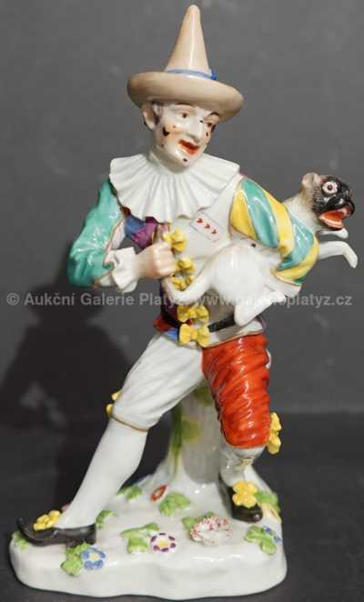Porcelán - Klaun s psíkem
