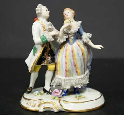Porcelán - Galantní scénka
