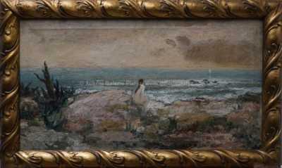 Beneš (Benedikt Julius) Knüpfer - Najáda na mořském břehu