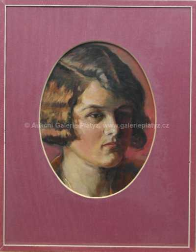 Alex Adolf Jelínek - Portrét dívky