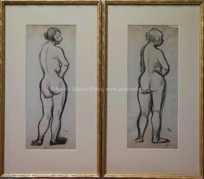Georges Kars - Konvolut dvou kreseb