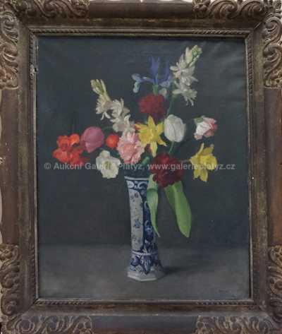 Josef Multrus - Květinové zátiší