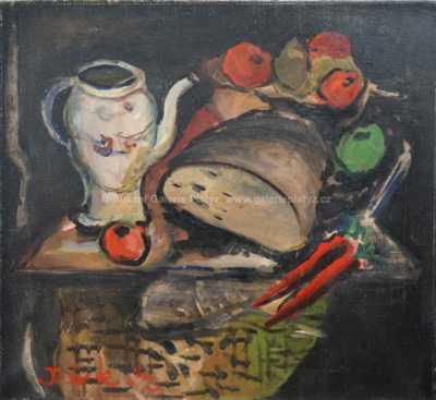 Autor neurčen - Zátiší s chlebem