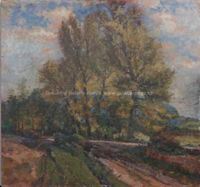 Karel Stěhule - Topoly na podzim