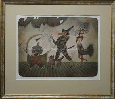Adolf Born - Průvod artistů