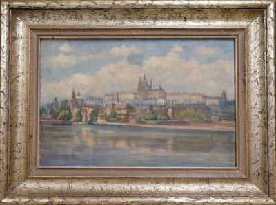 Pohledna Pražský hrad
