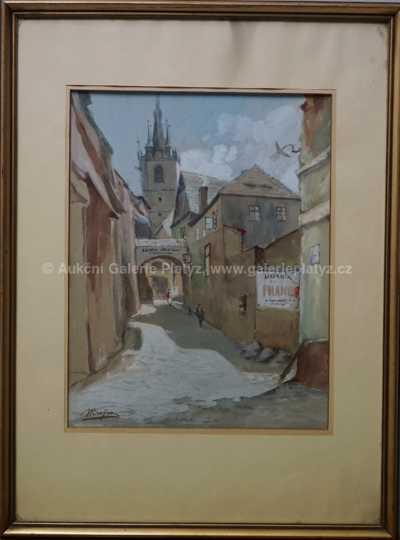 Josef Krejsa - Ulička na starém městě