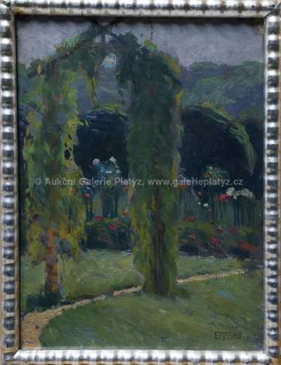 František Xaver Naske - Rozkvetlá zahrada