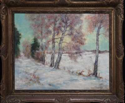 Alois Kalvoda - Zimní západ slunce